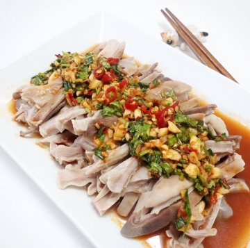 涼拌豬肚絲‬ Pork Tripe Salad in White SoySauce